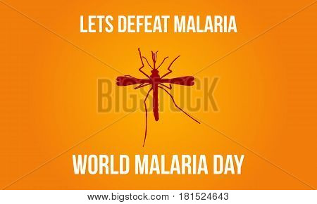 Mosquito background malaria day style vector illustration