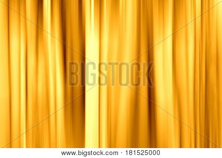 Background, gold, yellow fabric curtain. Abstraction color backdrop