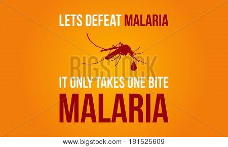 Collection Malaria Day Background Vector Art Illustration