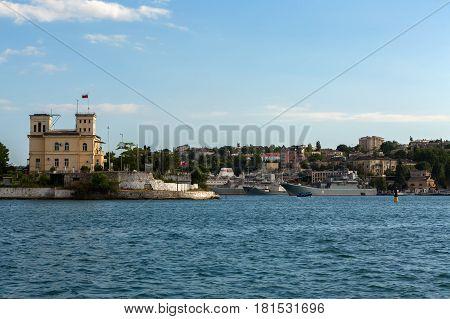 Sevastopol, Russia - June 09, 2016: Pavlovsky cape in the South bay of Sevastopol