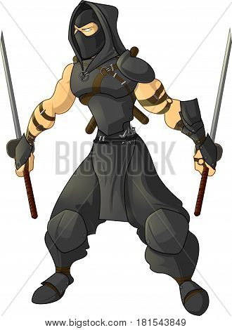 Game character ninja on a white background