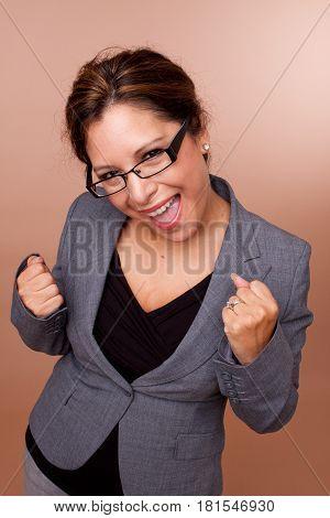 Beautiful Hispanic woman isolated on a background.