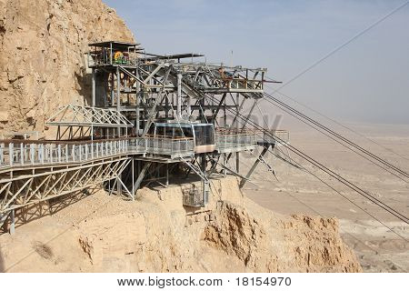 Car cable of Masada, the latest remains of Jewish in the ancient Israel