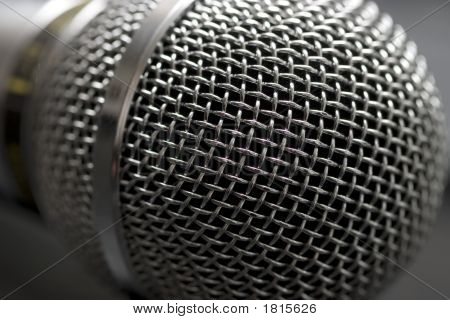 Microphone Head (Grille) Close-Up