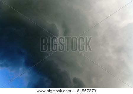 Rain cloud abstract background. Thunderclouds dramatic storm cloud.