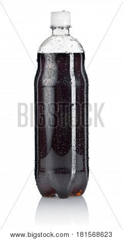Bottle of soda isolated on a white background. Clipping path
