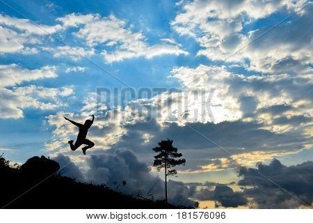 life energy & energetic people & jumping