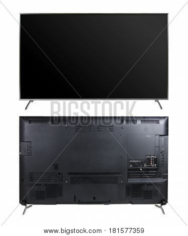 Smart LED TV front/back isolated from bg