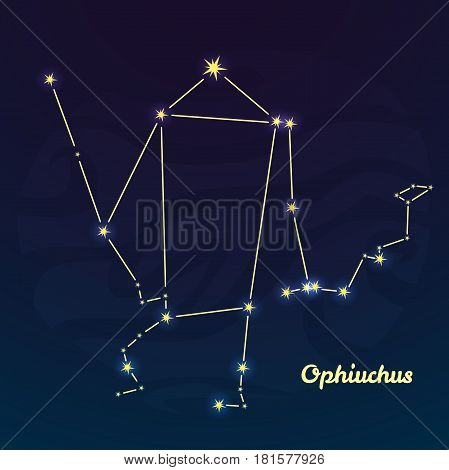 The new zodiac sign Ophiuchus, vector illustration