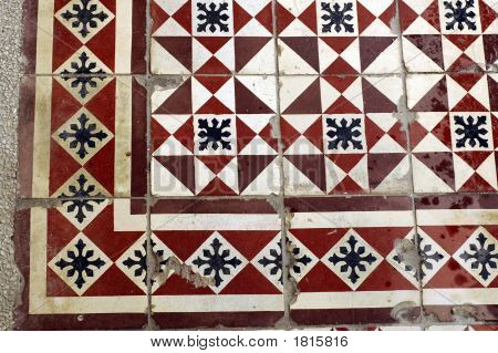 Very old aged tiles. Suitable for 3D textures poster