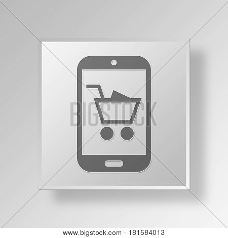 3D Symbol Gray Square Black Friday icon Business Concept