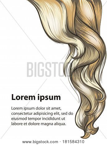 Hair style and hair care design template