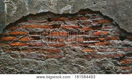 background, brick, Wall, partition, chapped, cloven, partition, fortification