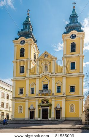 DEBRECEN, HUNGARY - MARCH 22,2017 - Church of St.Anna in Debrecen. Debrecen is the regional centre of the Northern Great Plain region.