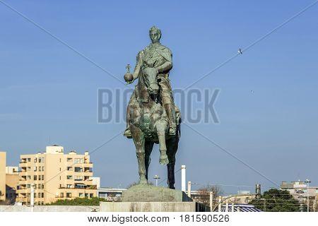 King John VI monument in Nevogilde district in Porto Portugal