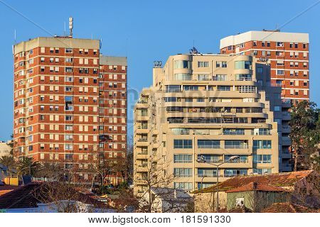Apartment buildings in Foz do Douro district in Porto city Portugal