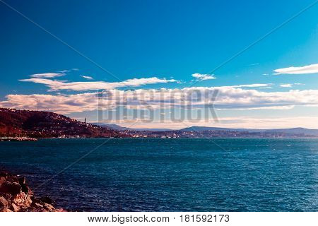 The Gulf Of Trieste In A Windy Day