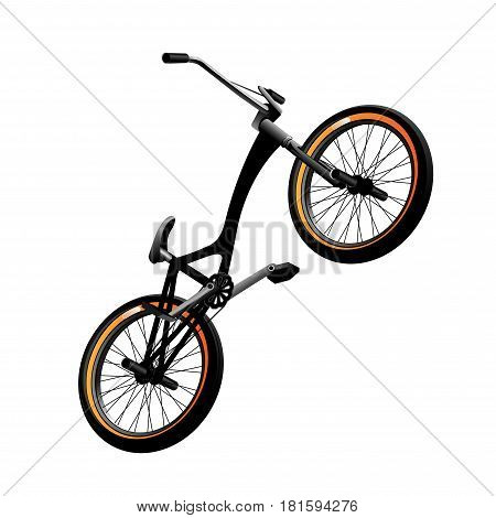 Black Bmx bicycle Isolated on white background