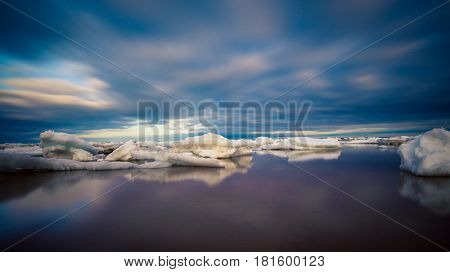 Icebergs off the coast of Prince Edward Island