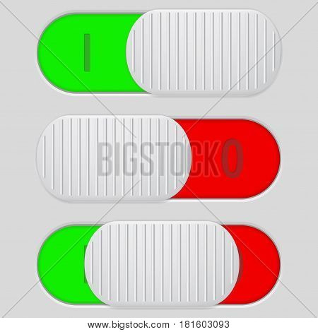 Toggle switch. Interface buttons. web elements. Vector illustration
