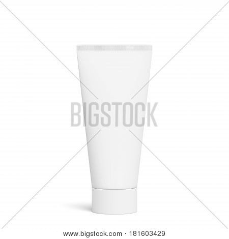 Blank white toothpaste tube, isolated on white background, 3D rendering