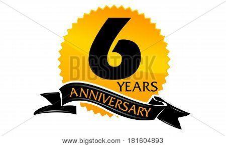6 Years Ribbon Anniversary Congratulation Ceremony Celebration