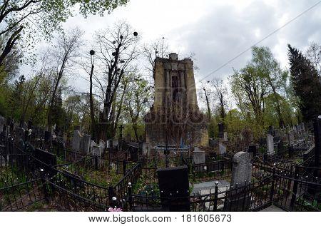 Historical Baikove cemetery. April 13, 2017 Kiev, Ukraine