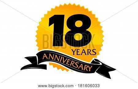 18 Years Ribbon Anniversary Congratulation Ceremony Celebration