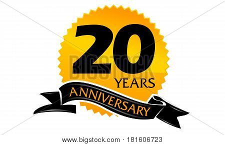 20 Years Ribbon Anniversary Congratulation Ceremony Celebration