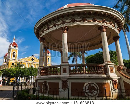 Bandstand In Front Of  Granada Cathedral