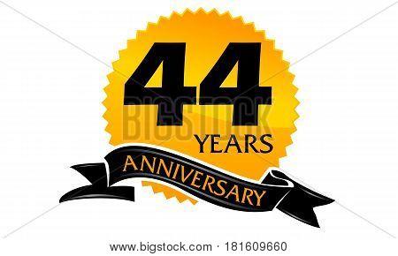 44 Years Ribbon Anniversary Congratulation Celebration Ceremony