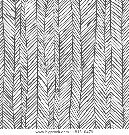Abstract herringbone background. Seamless pattern. Wallpaper in black and white colors. Vector illustration can be used for fashion textile, wrapping paper, fabric prints.