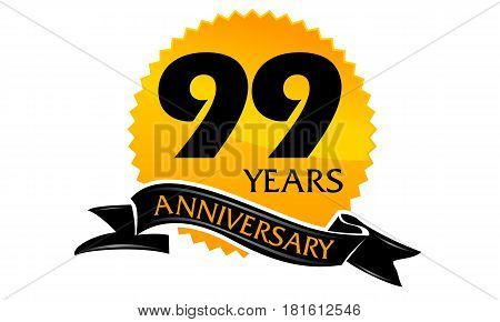 99 Years Ribbon Anniversary Congratulation Ceremony Modern