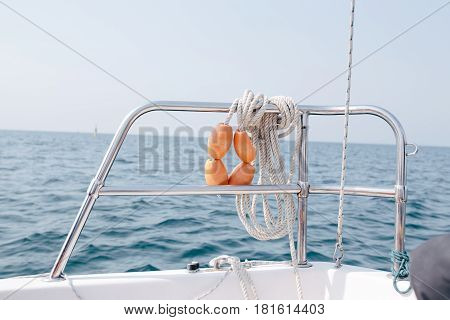 Rope and tackle on board a yacht