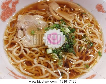 Delicious Ramen Japanese noodle soup dish Abstract background