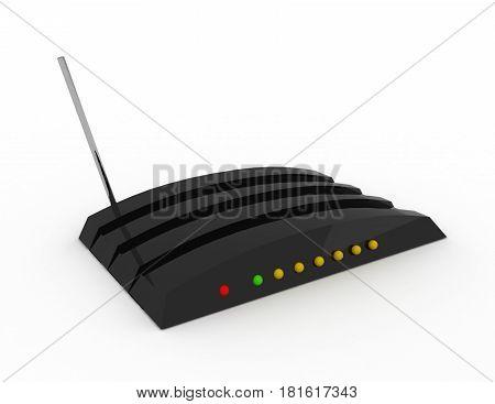 3d computer modem concpet . rendered illustration