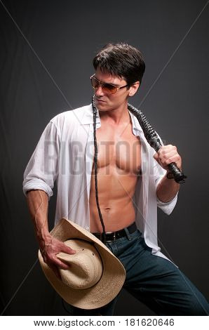 The sexy tough cowboy is looking for love.