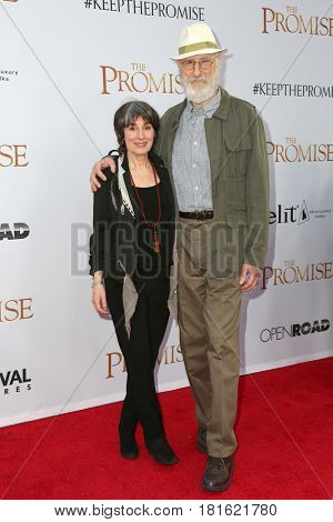 LOS ANGELES - APR 12:  James Cromwell, Anna Stewart at the