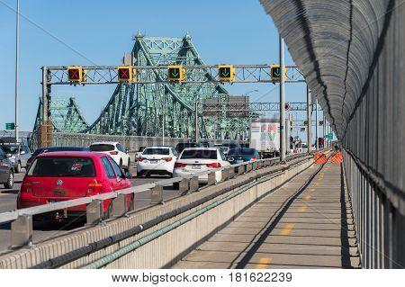 Traffic On Jacques Cartier Bridge
