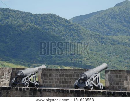 Cannons at the Brimstone Hill Fortress National Park, St Kitts Brimstone Hill Fortress National Park is a UNESCO World Heritage Site in St. Kitts, one of the must-not miss destinations in the Caribbean.