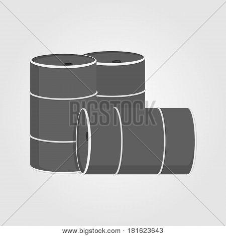 oil barrel flat - vector eps 10