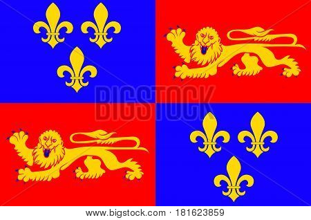 Flag of Landes is a department in southwestern France