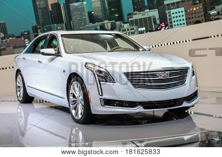 NEW YORK-APRIL 12:. Cadillac CT-6  shown at the New York International Auto Show 2017, at the Jacob Javits Center. This was Press Preview Day One of NYIAS, on April 12,2017 in New York City.