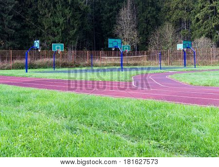 Stadium Near Forest