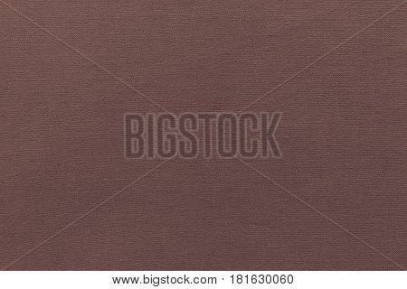 texture and background of rough fabric or cotton material of dark brown color