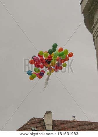 Desigual Balloons Flying In Vienna
