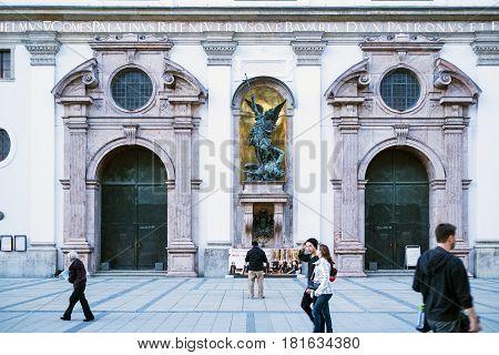Gates Of Former Jesuit Church Of St. Michael In Munich