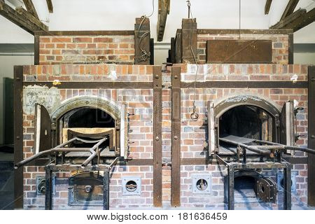 Crematories To Incinerate The Dead From Dachau Concentration Camp