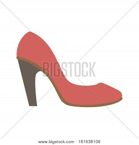 Classy Red Stiletto Shoe, Isolated Footwear Flat Icon, Shoes Store Assortment Item. Cartoon Realistic Footgear Single Object, Fashion Accessory Simple Vector Illustration.