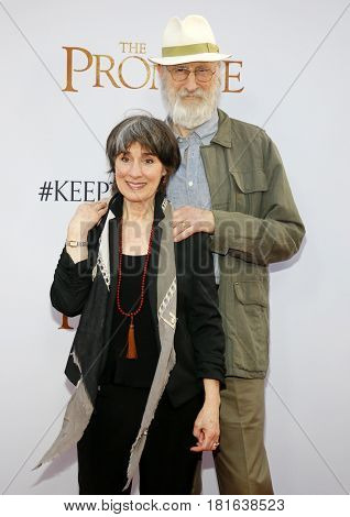 James Cromwell and Anna Stuart at the Los Angeles premiere of 'The Promise' held at the TCL Chinese Theatre in Hollywood, USA on April 12, 2017.